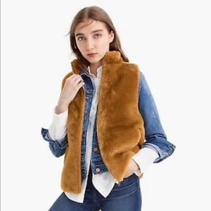 Faux fur teddy vest